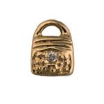 Purse - Brass & CZ Charm
